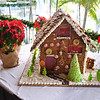 Gingerbread house in the lobby at Couples Negril.